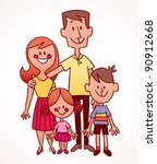 family | Shutterstock .eps vector #90912668