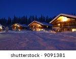 winter chalet's in twilight | Shutterstock . vector #9091381