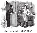 Kitchen   Vintage Illustration...