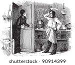 Kitchen   Vintage Illustration...