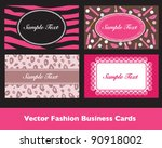 Pink Fashion Business Card Sets