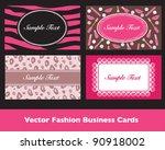 Pink Fashion Business Card Sets
