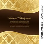 gold damask vector wallpaper... | Shutterstock .eps vector #90918317