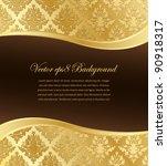 Gold Damask Vector Wallpaper...