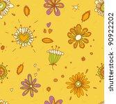 beautiful floral seamless... | Shutterstock . vector #90922202