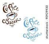 coffee break job work lunch...   Shutterstock .eps vector #90929930