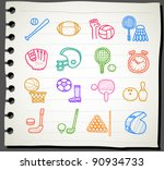 sketchbook series   sport...   Shutterstock .eps vector #90934733