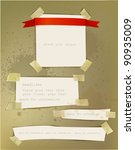 paper backgrounds fixed with...   Shutterstock .eps vector #90935009