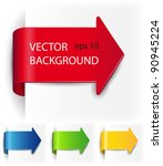 Set vector arrows in the form of paper stickers   Shutterstock vector #90945224