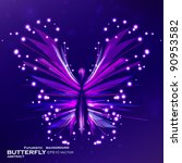 shiny butterfly abstract vector ... | Shutterstock .eps vector #90953582