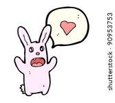 zombie bunny rabbit with love... | Shutterstock .eps vector #90953753