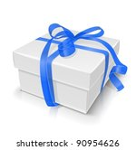 gift box with bow vector... | Shutterstock .eps vector #90954626