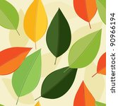 abstract foliage seamless... | Shutterstock .eps vector #90966194
