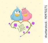 Love Birds On The Branch ...