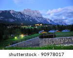 Cortina D'ampezzo At Night