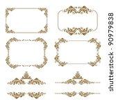 vector set of decorative... | Shutterstock .eps vector #90979838