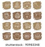 brown brush series   christmas... | Shutterstock .eps vector #90983348