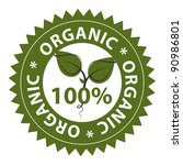 100  organic food conceptual... | Shutterstock .eps vector #90986801