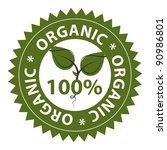 100  organic food conceptual... | Shutterstock .eps vector #90986801