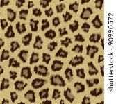 cheetah fur repeating pattern tile - stock vector
