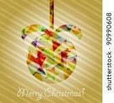 raster version  christmas tree... | Shutterstock . vector #90990608
