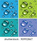Vector Set Of Water Drops....