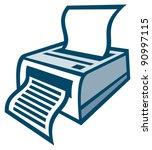 printer | Shutterstock .eps vector #90997115