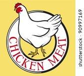 chicken meat label | Shutterstock .eps vector #90997169