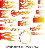 illustratition of flames vector | Shutterstock .eps vector #9099763