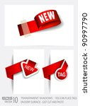 original style paper tags with... | Shutterstock .eps vector #90997790