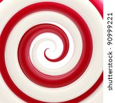 Colorful glossy red and white twirl as an abstract background - stock photo