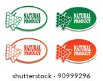 natural product stickers.vector. | Shutterstock .eps vector #90999296