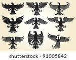 heraldic eagles set   heraldic... | Shutterstock .eps vector #91005842
