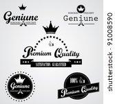 premium quality labels | Shutterstock .eps vector #91008590
