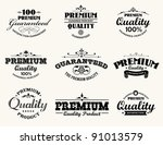 satisfaction guarantee label... | Shutterstock .eps vector #91013579