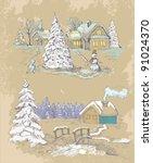 christmas background | Shutterstock .eps vector #91024370