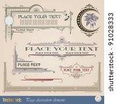 frame  border  ornament and...   Shutterstock .eps vector #91028333