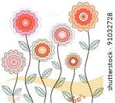 springtime flowers   vector... | Shutterstock .eps vector #91032728