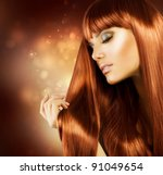 beautiful woman with healthy... | Shutterstock . vector #91049654