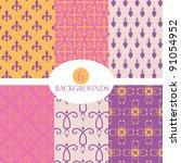 seamless gothic damask... | Shutterstock .eps vector #91054952