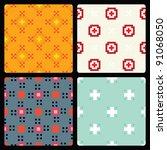 pixel seamless pattern set | Shutterstock .eps vector #91068050