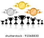 medals set 2 | Shutterstock .eps vector #91068830