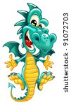 happy dragon on white background | Shutterstock .eps vector #91072703