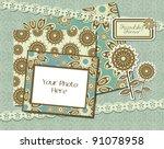 photo frames   scrapbook... | Shutterstock .eps vector #91078958