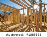 Interior Framing Of A New Hous...