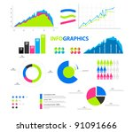 colorful infographic | Shutterstock .eps vector #91091666
