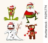 Cute Christmas monsters