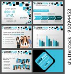 black and blue template for... | Shutterstock .eps vector #91094453