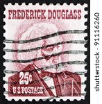 Small photo of UNITED STATES OF AMERICA - CIRCA 1973: a stamp printed in the United States of America shows Frederick Douglass, leader of the abolitionist movement, circa 1973