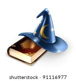Wizard Hat And Old Book  10eps
